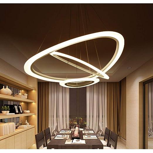 Amazon.com: Lámpara de techo de diseño moderno con 3 anillos ...