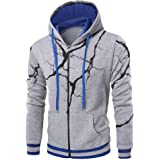 86a792cc92f BHYDRY Mens Hoodies Long Sleeve Sweatshirt Autumn Winter Thunder Printed Hooded  Tops Blouse