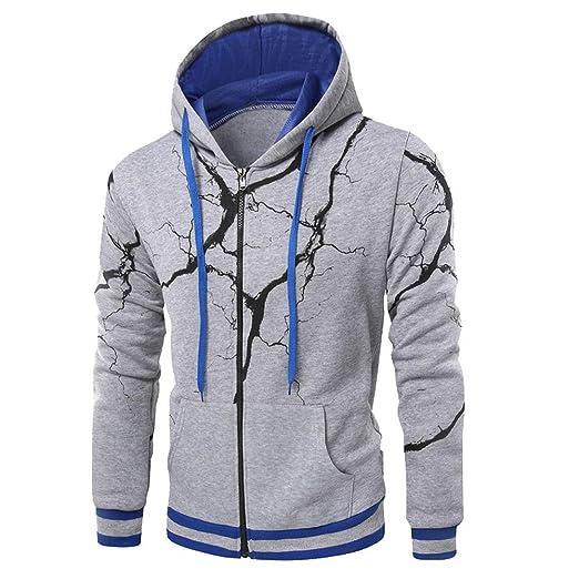 7fc0cfbd9e0 Clearance Forthery Mens Pullover Hooded Sweatshirts Zipper Winter Warm Coat  Outwear(Grey