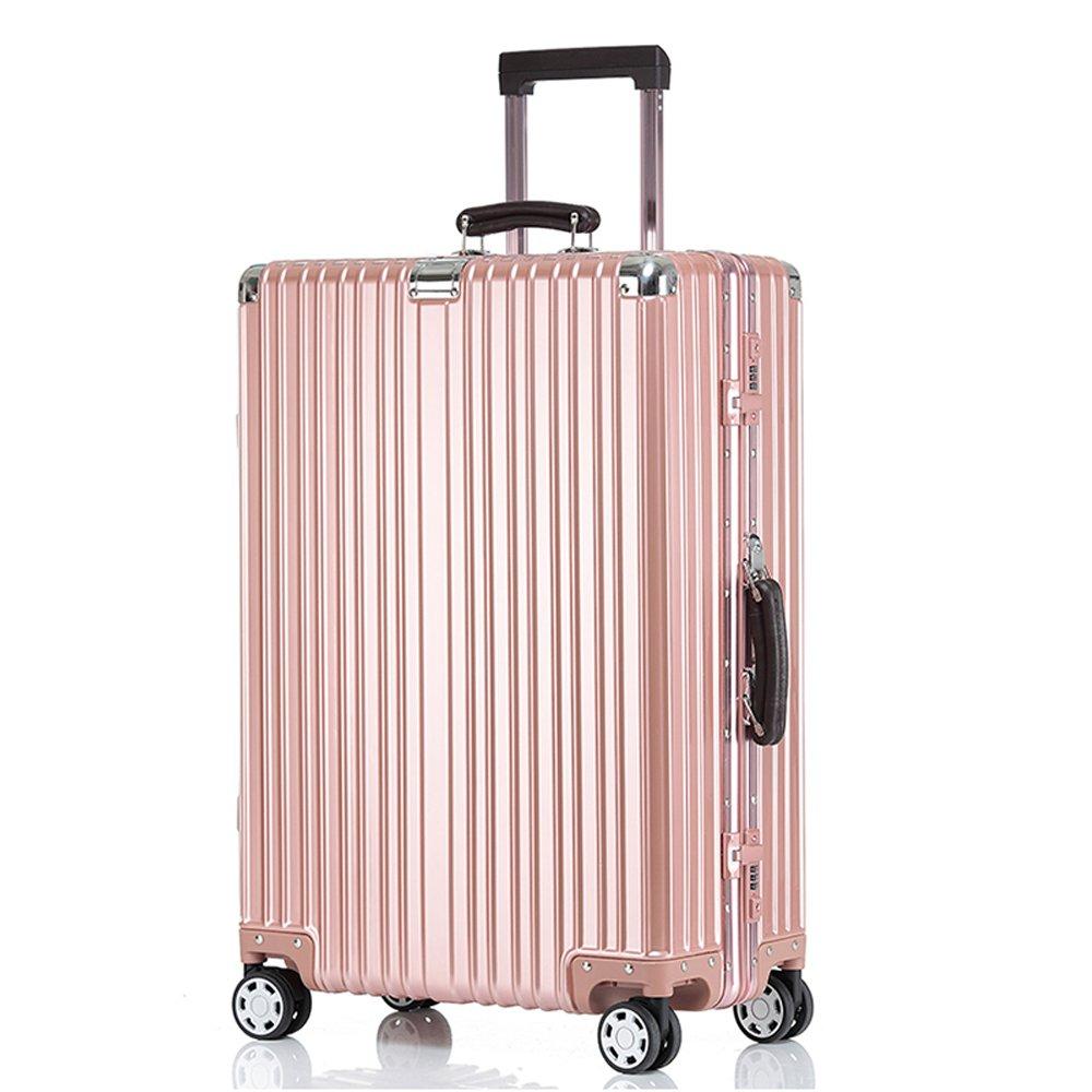 クロース(Kroeus)キャリーケース スーツケース TSAロック搭載 旅行 出張 大容量 復古主義 8輪 超軽量 機内持込可 B0789CWBPY ML|ローズゴールド ローズゴールド ML