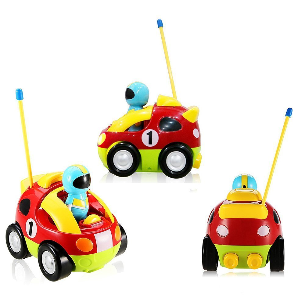 Holy Stone RC Cartoon Race Car with Music & Lights Electric Radio Control Toy for Baby Toddlers Kids & Children by Holy Stone (Image #3)