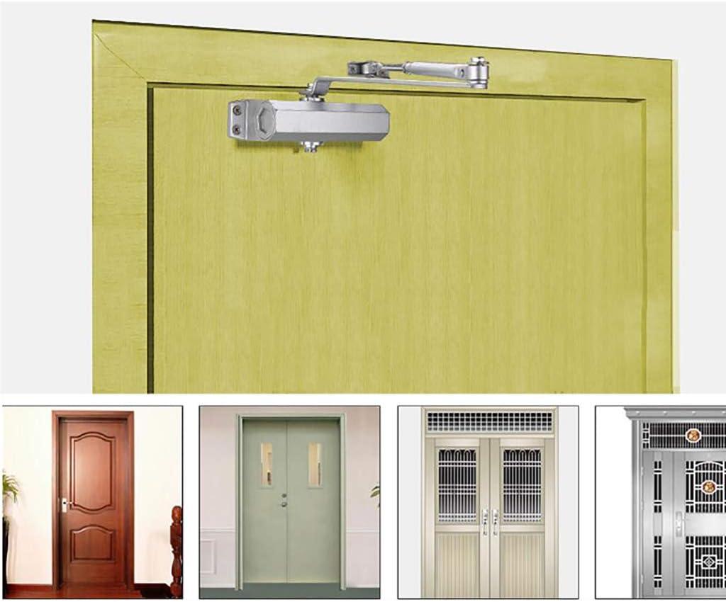 Hidraulico Tampón de Cierre de puerta,Automática Cerrar Ajustable Montaje en superficie Cerrador de puerta-A 18.8x19cm(7x7inch): Amazon.es: Bricolaje y herramientas