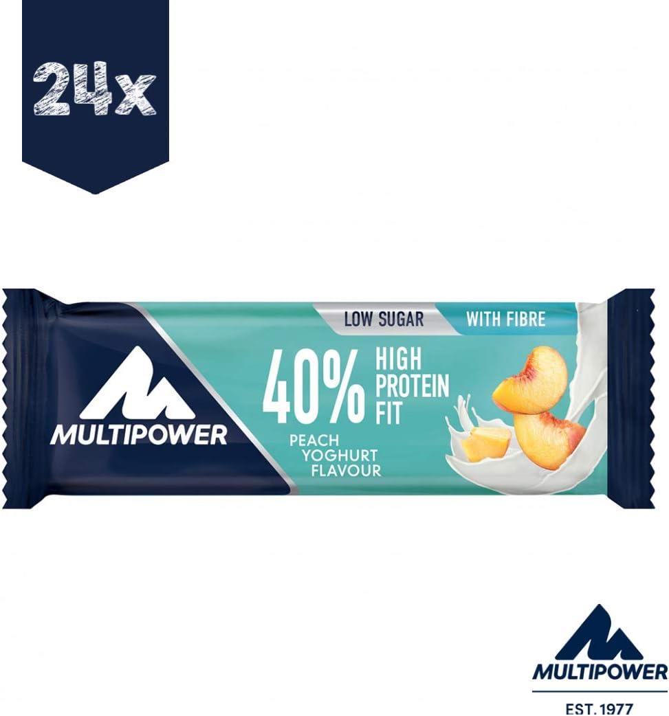 Multipower 40% Protein Fit Peach Yoghurt Barras de Proteínas ...