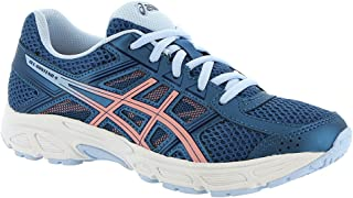 ASICS C707N Kid's Gel-Contend 4 GS Running Shoe, Azure/Frosted Rose - 5.5
