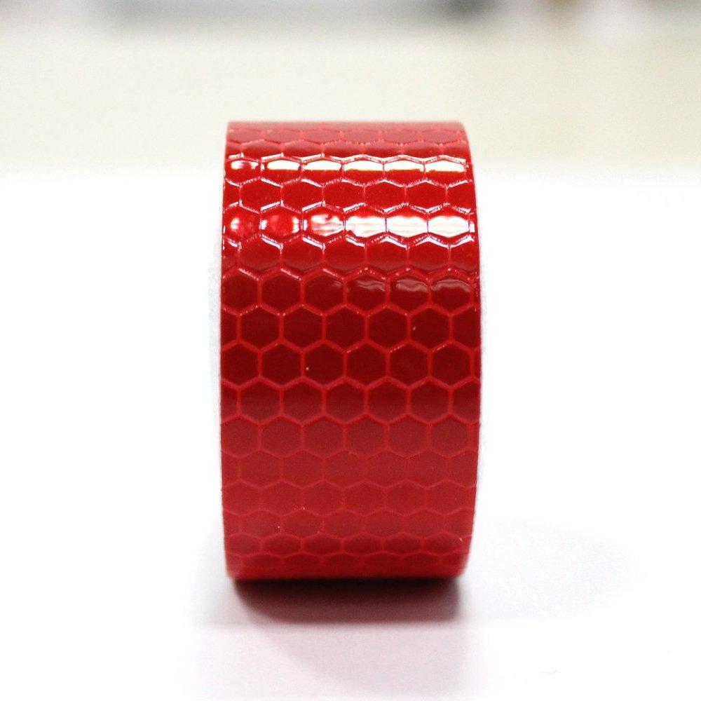 Maiqiken 5cm x 3m riflettore nastro rosso ad alta intensità di sicurezza marcatura nastro per bicicletta Cars Trucks attenzione tape