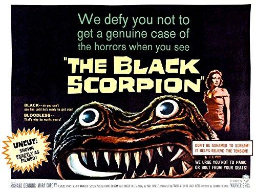The Black Scorpion On Right Mara Corday Half-Sheet Poster 1957 Movie Poster Masterprint (14 x 11)