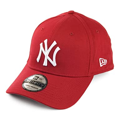 Gorra béisbol 39THIRTY Basic New York Yankees de New Era - Rojo - M/L: Amazon.es: Ropa y accesorios