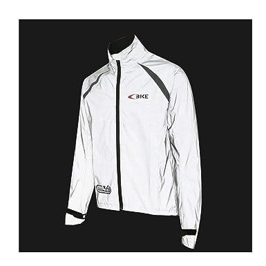 Mysenlan Reflective Rain Jacket Safety Running Cycling Windproof Coat High  Visibility Windbreaker Men s Women s Raincoat Grey 275f3d7644
