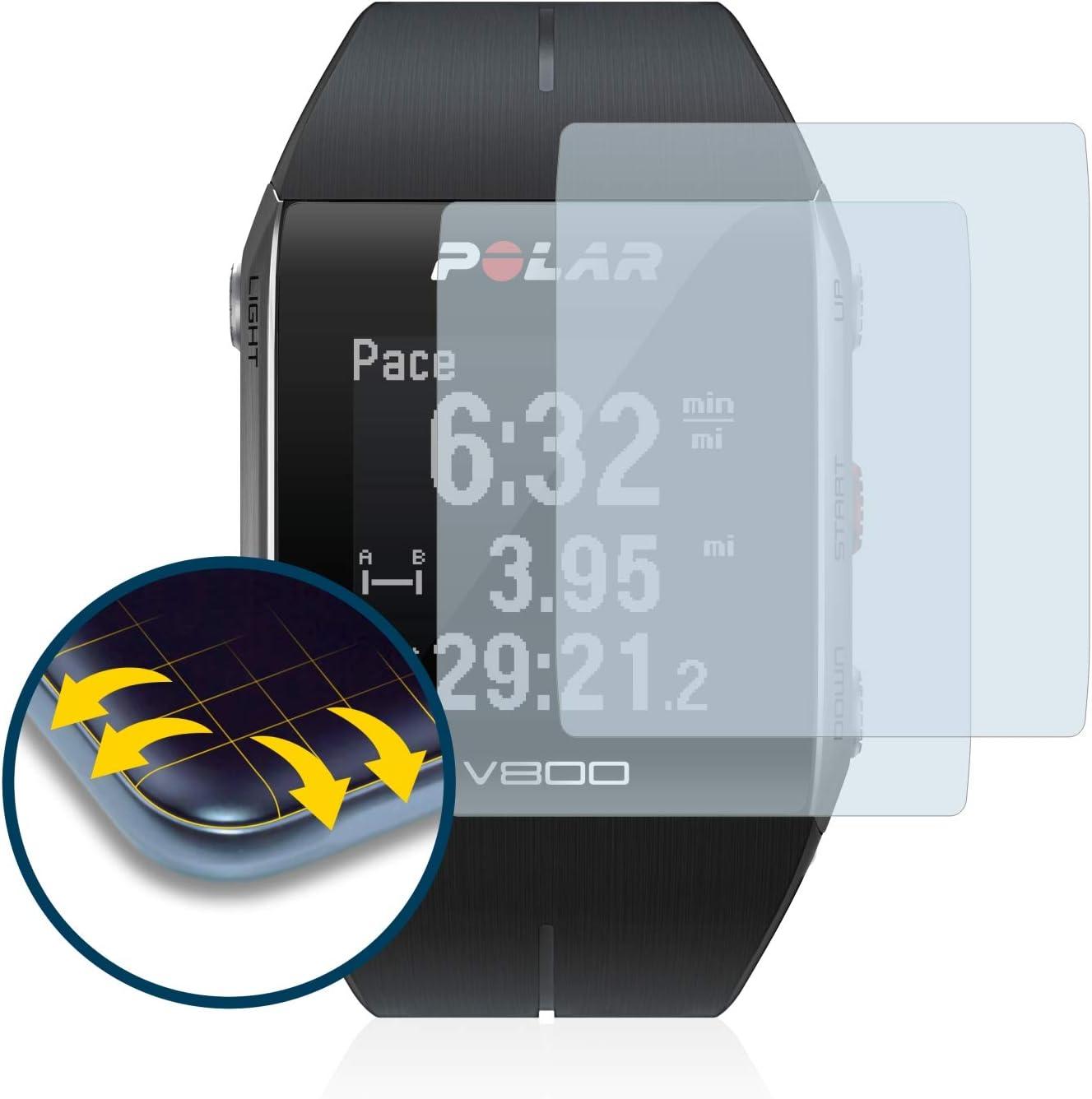 TUSITA Bande pour Polar V800 avec Protecteur d/'Écran Bracelet en Silicone de R