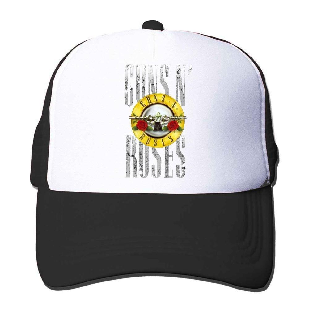 Feruch Custom Guns N' Roses Tour Poster Trucker Hat Orange Sun Hat Black