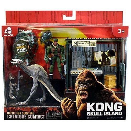 - Lanard Kong Skull Island Battle for Survival Creature Contact SkullCrawler with Monarch Outpost and Figure