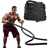 Popamazing 3.8cm x 9M/15M Sports Training Battling Battle Power Rope Bootcamp Exercise Fitness Rope …