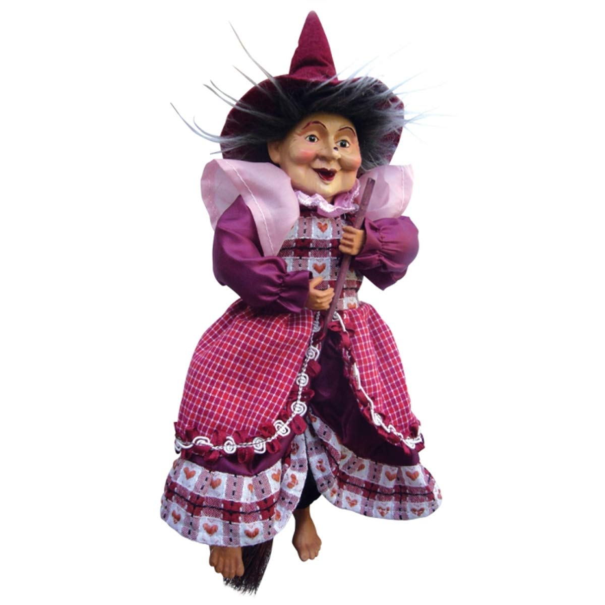 Burgundy Witches of Pendle 35cm Rosemary Kitchen Witch Hanging or Sitting