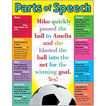 Vibrant Parts of Speech Posters by Middle Grades Maven   TpT