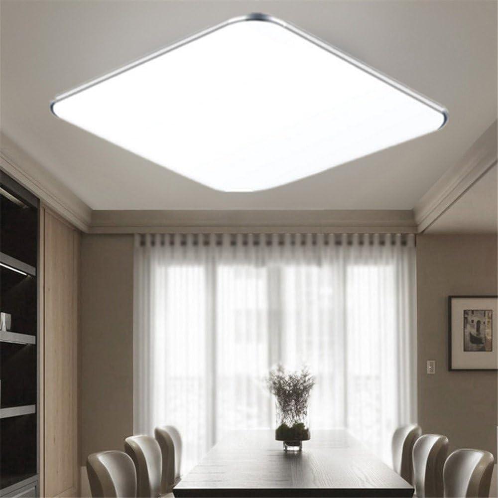 MCTECH® 20W LED Deckenbeleuchtung Ultraslim Modern Deckenleuchten Kaltweiß  Deckenlampe Silber Deckenleuchte Wohnzimmer Küche Panel Leuchte 20K-20K