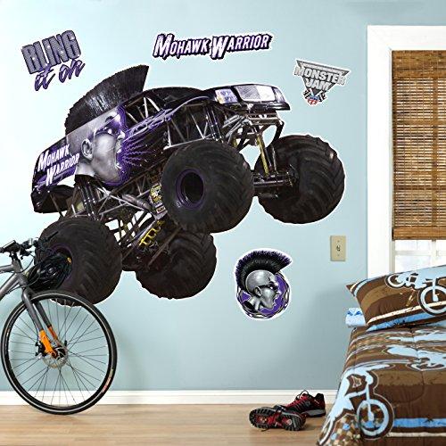 BirthdayExpress Monster Jam Mohawk Warrior Giant Wall Decal Party Supplies Room Décor
