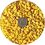 Taygum Decorative Gravel,Pebbles, Eco-Friendly,, 2.2lb Bag 0.07''~0.2'' Thickness, for Landscaping, Gardening, Home-Deco, Vase Filler, Play Grounds, Aquariums (Yellow)