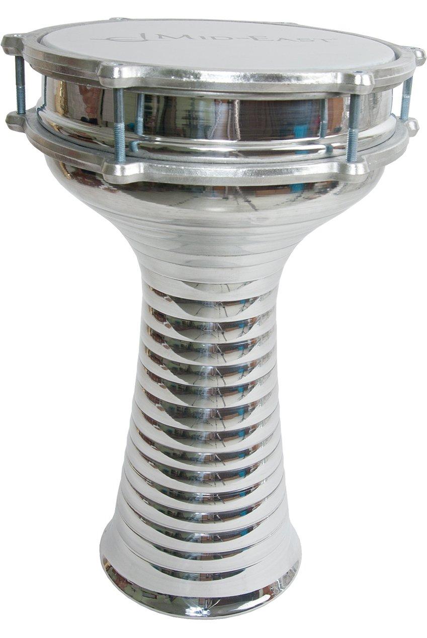 Aluminum Doumbek, Zebra, 22cm, Jingles by Mid-East