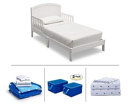 Amazon.com: Delta Children Toddler Bedroom Set, Boys 4-Piece (White ...