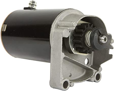 STARTER MOTOR FITS BRIGGS /& STRATTON 14 16 18 HP STARTER 497596 V TWIN WITH FREE GEAR