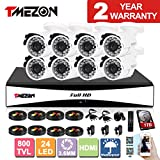 TMEZON 8CH Channel 960H HDMI Output P2P DVR Recorder 800TVL Cameras Outdoor CCTV Surveillance Security System APP Mobile Access 1TB Hard Drive Review