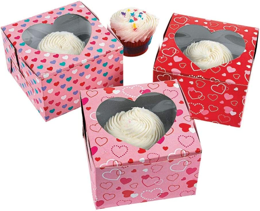 VALENTINES DAY CUPCAKE BOXES