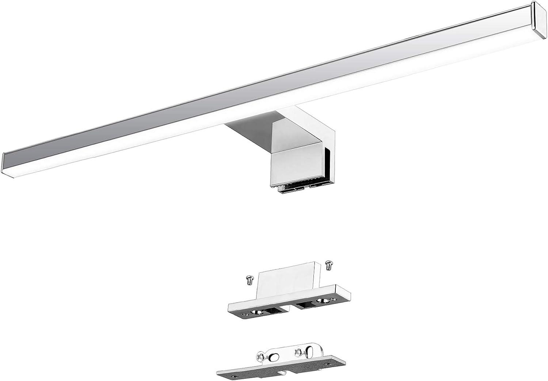 Lámpara LED de Espejo 10W 820LM Lámpara de Baño Azhien, Blanco Neutro 4000K Lámpara LED de Pared Luz de Pared IP44 230V Luz de Espejo de Baño de Acero ...