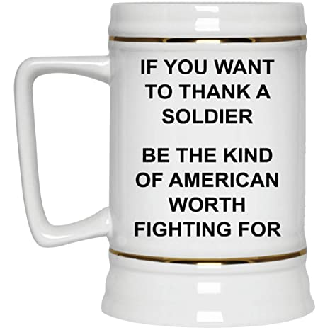 Patriots Beer Stein - 22 oz Gold Trim - Funny Novelty Gift Idea Big  Patriotic Cool a728b3707d