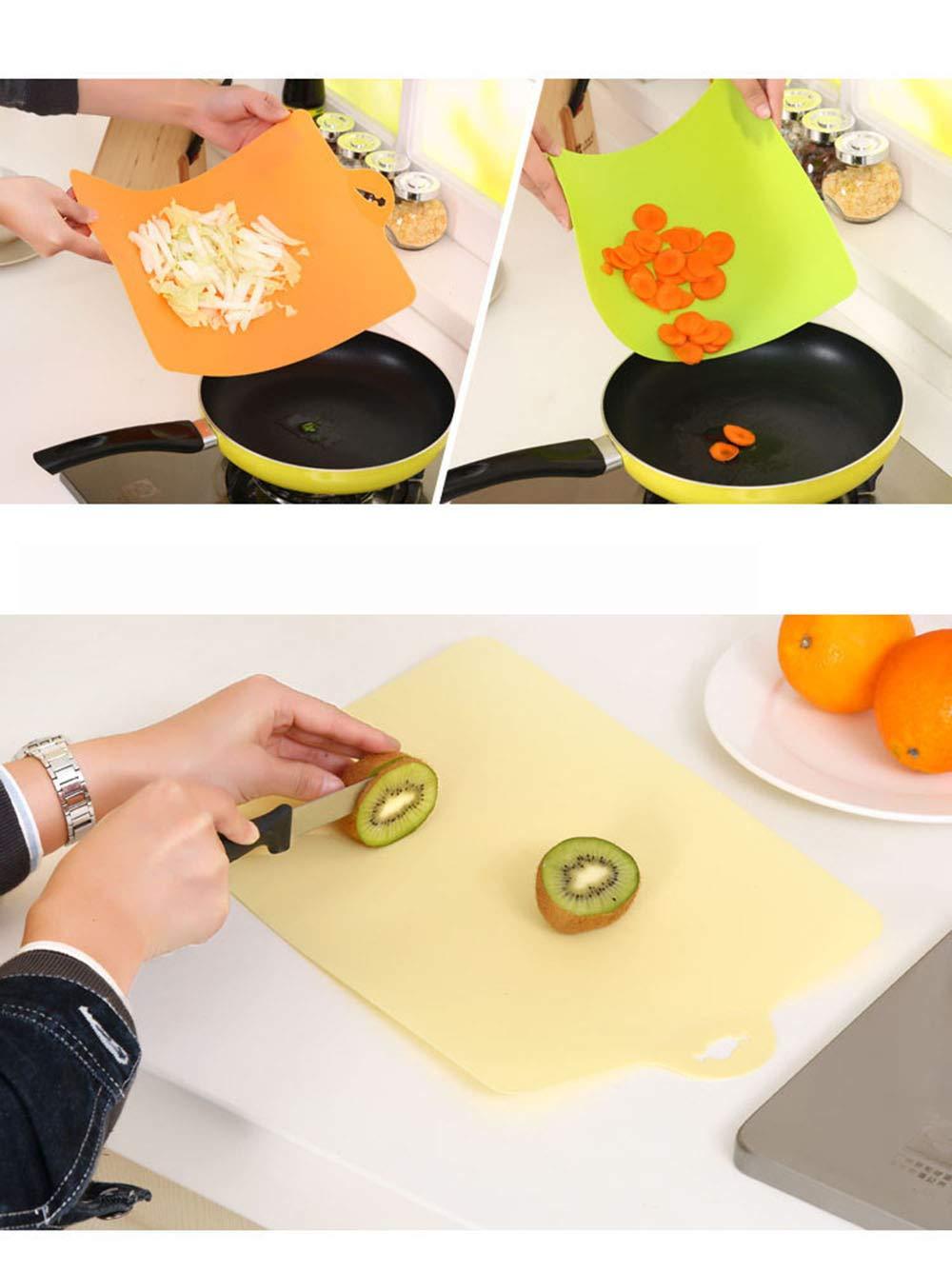 KAEHA qcb-0001-25-x Tabla de cortar de cocina f/ácil de plegar hecha de pl/ástico duradero de color beige