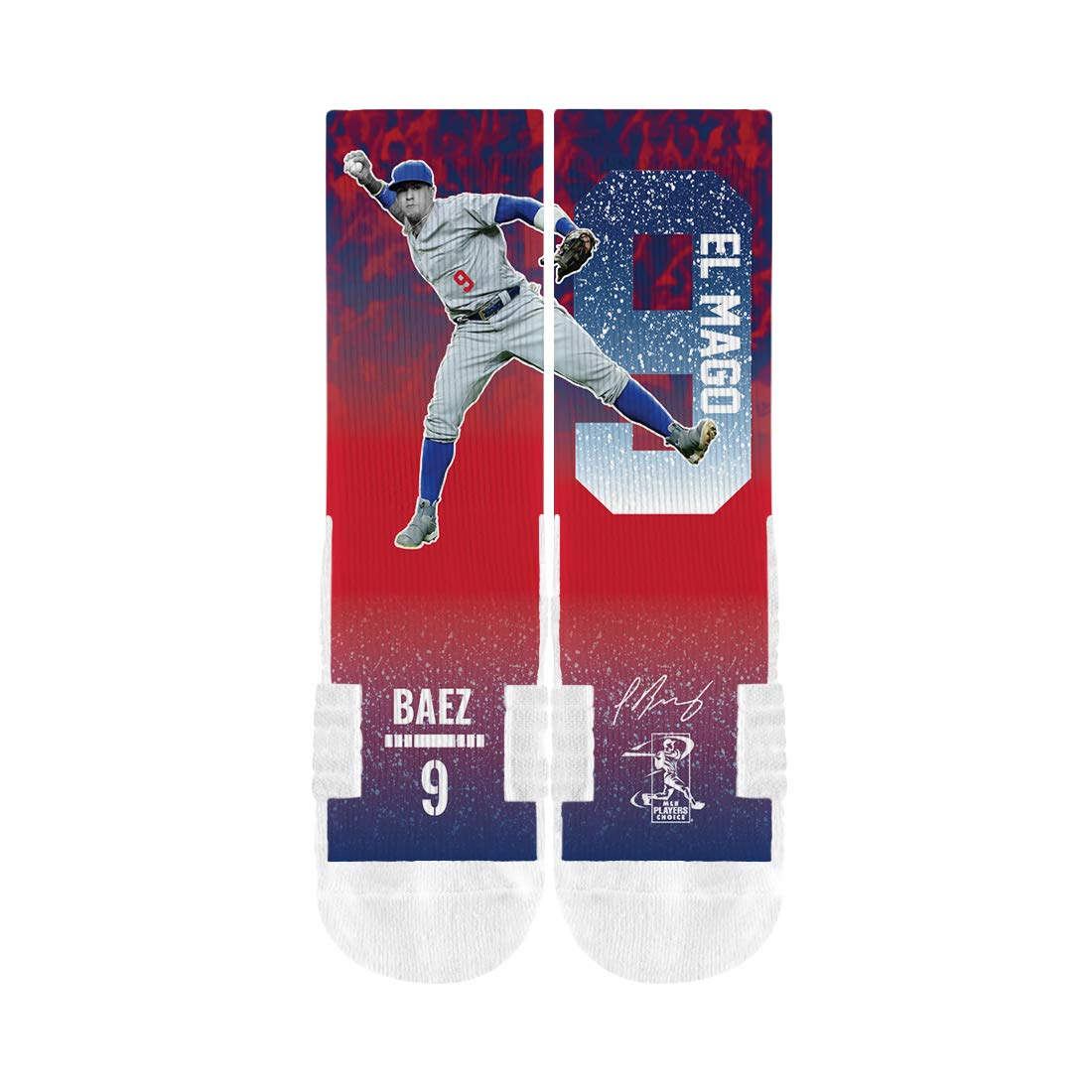 Chicago Cubs Youth Javier Baez #9 El Mago Socks