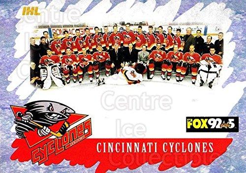 (CI) Cincinnati Cyclones, Team Photo Hockey Card 2000-01 Cincinnati Cyclones 28 Cincinnati Cyclones, Team Photo