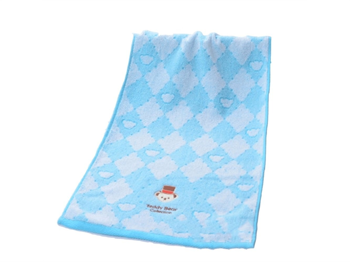 Wesource Activates Cartoon Embroidered Cotton Adult Thicken Wash Face Towel Couple Wash Wiping Towel Household(Blue)
