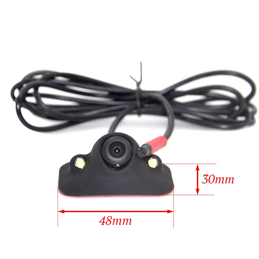 Auto Wayfeng WF/® HD CCD Nachtsicht 360 Grad Auto Front Kamera Vorderansicht Seitenumkehr Backup Kamera 2LED