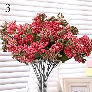 FYYDNZA Quality Cheap Berry Artificial Plants Wedding Decoration Corsage Fake Artificial Flowers Home Decoration,Pink 62