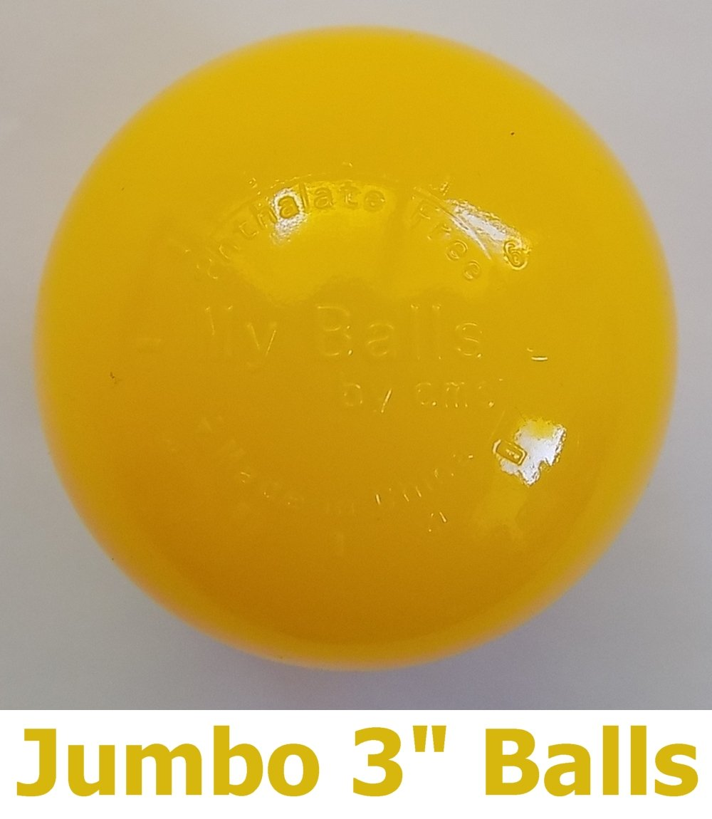 My Balls Pack of 100 Commercial Grade Yellow Color Jumbo 3'' Crush-Proof Ball Pit Balls - Phthalate Free, BPA Free, PVC Free, in Single Color (Yellow, 100)