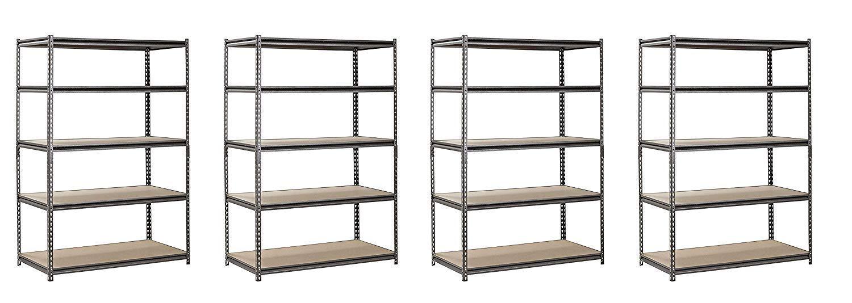 Amazon.com: Estantería de acero con 5 estantes, de color ...