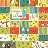Moda Mind Your P's and Q's Charm Pack, Set of 42 5-inch (12.7cm) Precut Cotton Fabric Squares