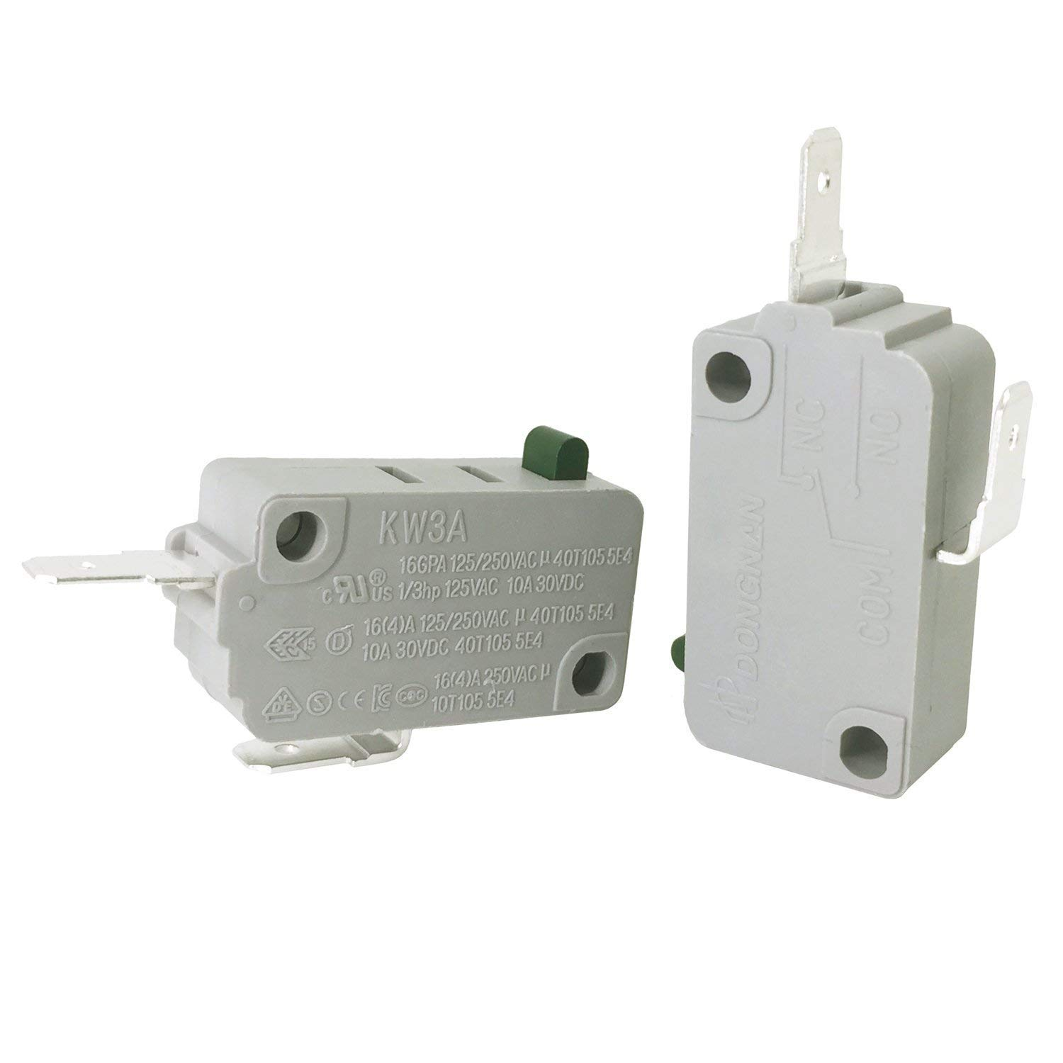 KW3A 16A 125V/250V Microwave Oven Door Micro Switch Normally Close(2Pcs)