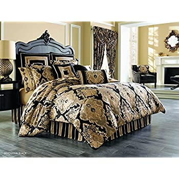 bradshaw black comforter set king by j queen new york - J Queen New York Bedding