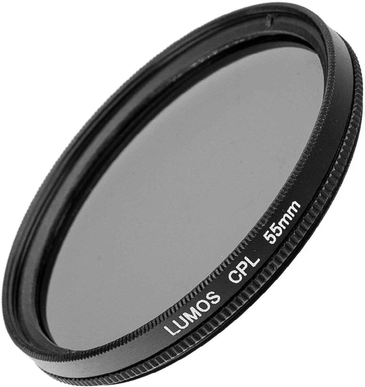 zirkularer Polarisationsfilter /Ø 62 mm LUMOS Polfilter 62mm Pol-Filter zirkular optisches Glas schmale Metallfassung