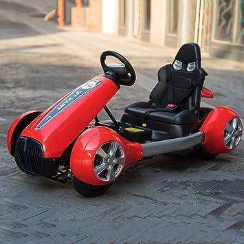 TONGSHAO Karts/Coche eléctrico para niños con Control Remoto, Cuatro Ruedas, Kart,