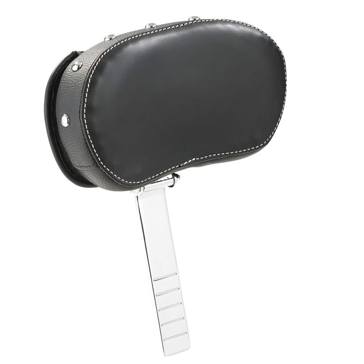 Black w//Studs 2879542-02 Indian Motorcycle Genuine Leather Rider Backrest Pad