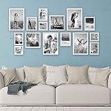 Artzfolio Wall Photo Frame White 6X6-3Pc;6X8-6Pc;6X10-2Pc;8X10-4Pc;Set of 15 Pcs