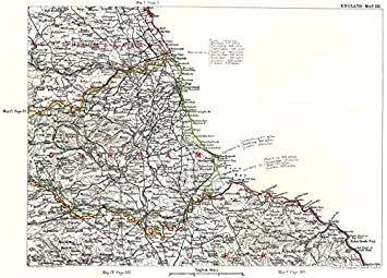 Map Of England Durham.Ne England Coast Northumberland Durham Yorkshire Newcastle Upon
