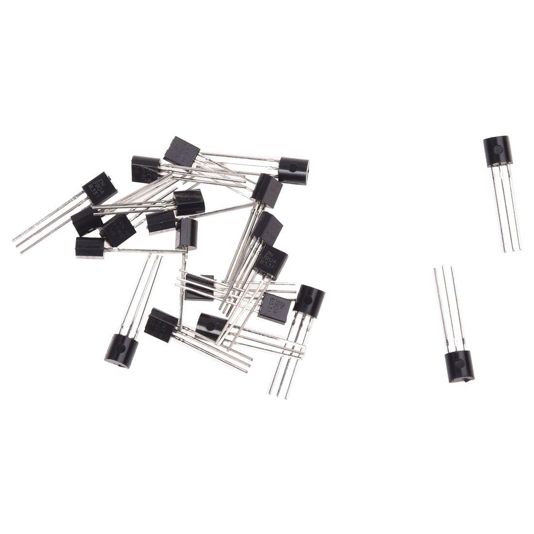 SODIAL(R) 2N3904 Through Hole 3 Pins NPN Bipolar Transistors 20 Pcs
