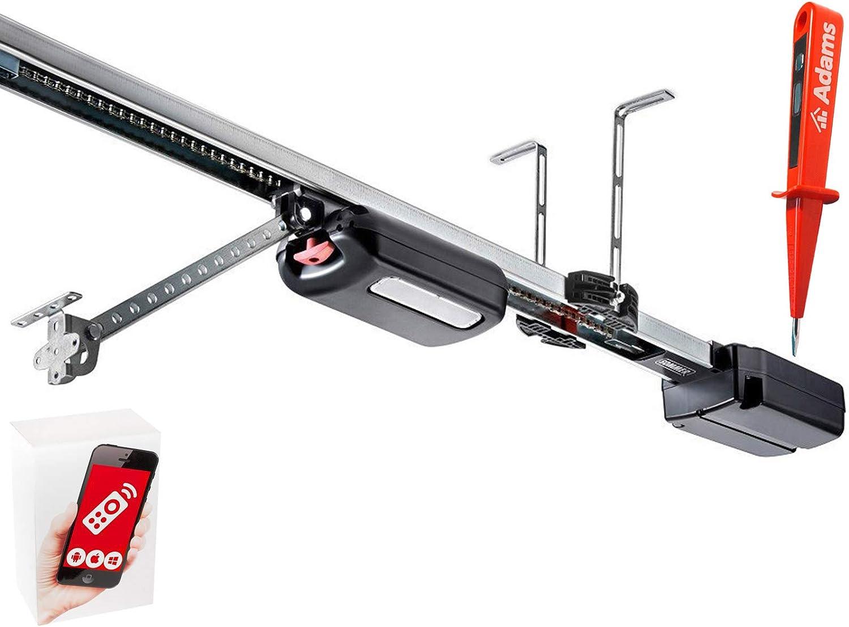 Sommer S9060 Base + accionamiento para puerta de garaje + raíl de 275 cm + set WLAN + comprobador de corriente ADAMS