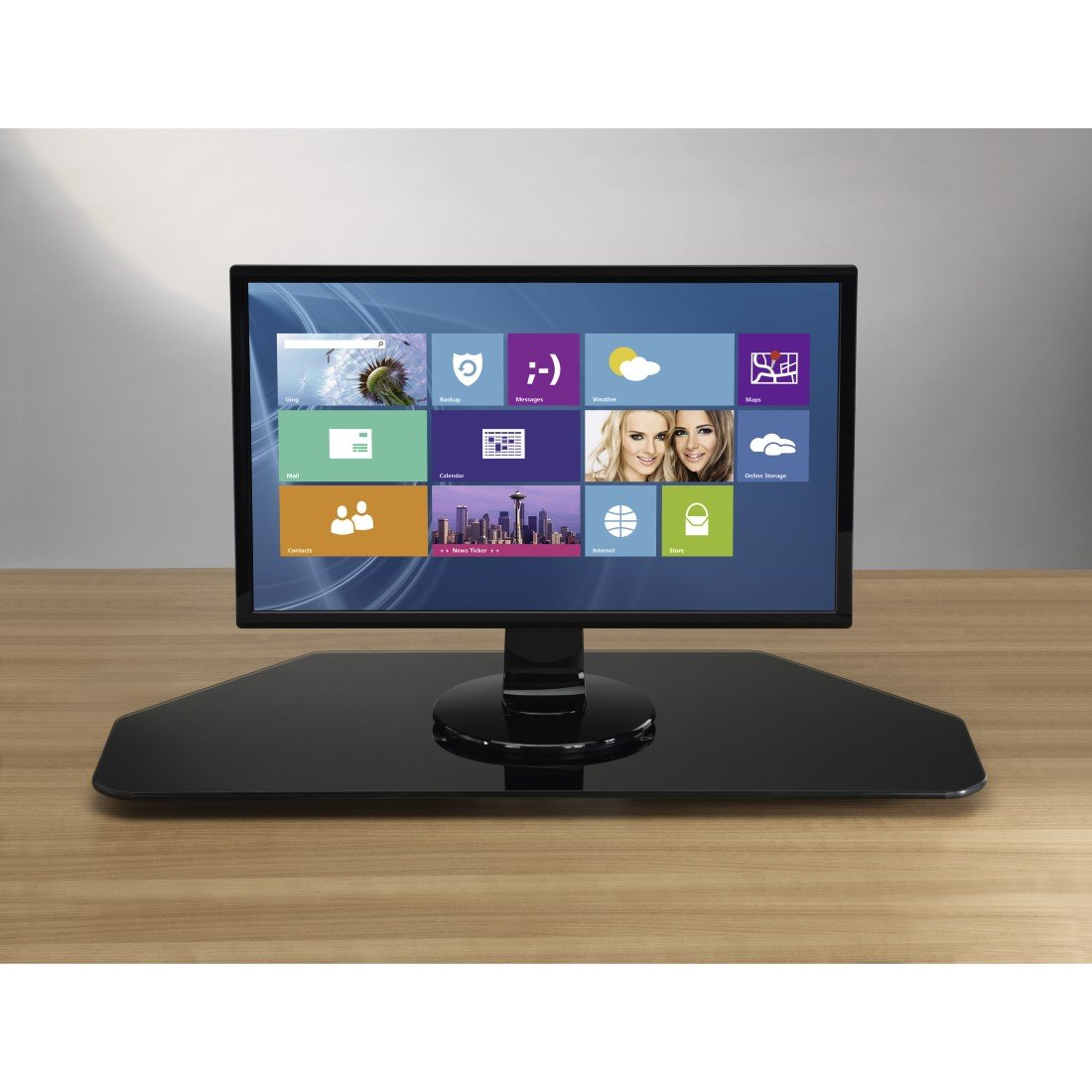 Hama TV-Drehteller f/ür Fernseher und Monitore Bis 60 kg, Drehbar um 360/°, 80 x 40 cm, Sicherheitsglas transparent