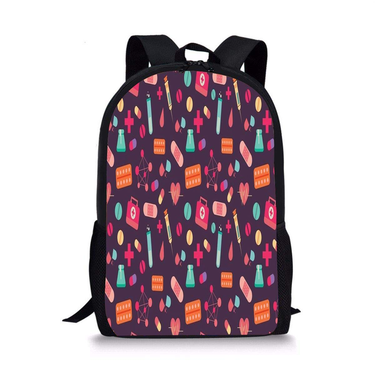 c5243ad6b48 Amazon.com   ISFHJbackbagAD Stay Wild1 Cute Print School Backpack For Boys  Girls School Book Bags   Kids  Backpacks