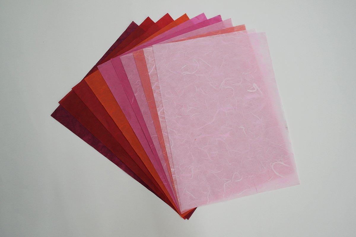 60 Mulberry Paper Sheet Design Craft Hand Made Art Tissue Japan ...