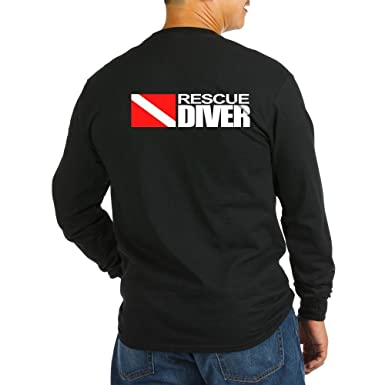 c84d16b8 Amazon.com: CafePress Rescue Diver Long Sleeve T-Shirt Long Sleeve T:  Clothing